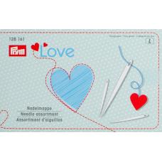 """Набор игл """"Love"""" для шитья и штопки 29 шт. с нитевдевателем 128161"""