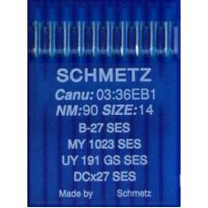 Иглы промышленные оверлочные Schmetz DCx27 SES 10 шт для трикотажа