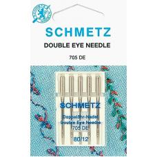 Иглы с двойным ушком Schmetz 130/705DE 5 шт